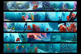finding nemo storyboard color key pastels pixar art