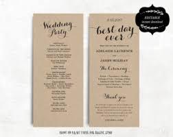 cheap wedding program wedding day program etsy