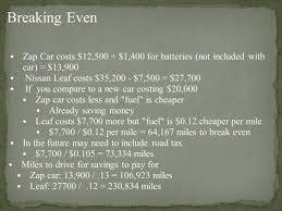 nissan leaf miles per kwh by ethan masten u0026 kaitlyn cotton zap car costs about 0 03 per
