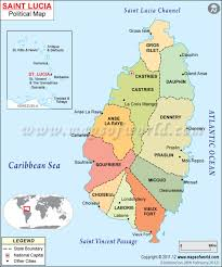 Map Of Southern Caribbean by Saint Lucia Map Map Of Saint Lucia