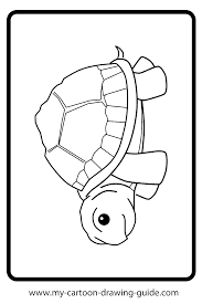 coloring pages draw a turtle coloring page