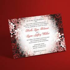 christmas wedding invitations winter wedding invitation suite with evening border
