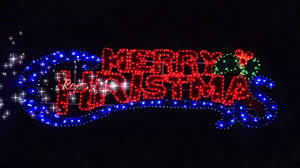 merry lighted banner decor and light