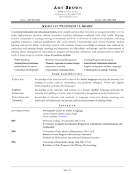 Teacher Sample Resume Sample Cv For Language Teacher