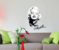 28 wall decal marilyn monroe with signature wall sticker by wall decal marilyn monroe with signature wall sticker by wall marilyn monroe decal for any room