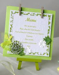 idee menu mariage scrapbooking mariage menu