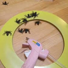 sophisticated spider wreath