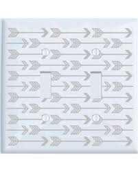 arrow of light decorations sale double toggle grey arrow print light switch plate and