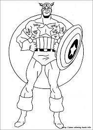 America Coloring Picture Captain America Coloring Page