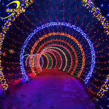 led 3d arch decoration lights for government street decration