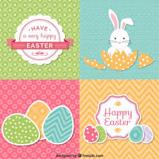 easter pictures set of easter cards vector free