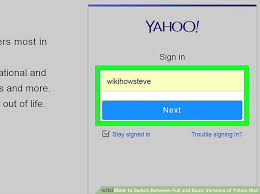 mail yahoo basic how to switch between full and basic versions of yahoo mail