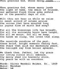 Common The Light Lyrics Hymns Ancient And Modern Song Thou Gracious God Whose Mercy