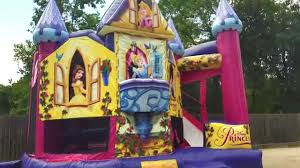 bounce house rentals houston 5in1 princess bounce house sky high party rentals