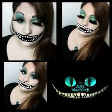 alice in wonderland costume spirit halloween fantasy makeup alice in wonderland tim burton cheshire cat