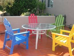 Types Of Dining Room Tables by Terrace With Colorful Chairs And Round Table Types Of Outdoor