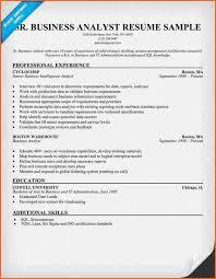Senior Business Analyst Resume 10 Resume For Business Budget Template Letter