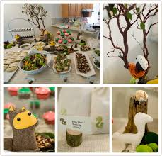 woodland creature baby shower woodland themed baby shower party event design decor