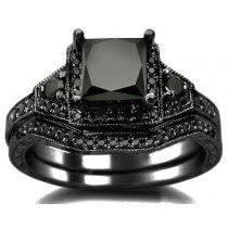black ring black engagement rings also black wedding rings black diamond