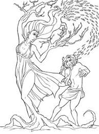 myth of perseus and medusa coloring page coloring page