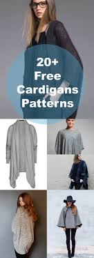 20 free patterns for cardigans and sweaters pdf sewing patterns