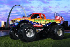 bigfoot monster truck st louis destination tire poster st louis arch dave hawkins photography