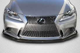 jdm lexus is250 14 15 lexus is am design dritech carbon fiber front bumper lip