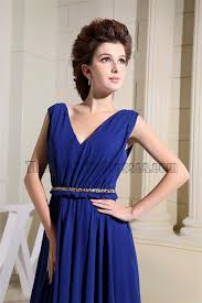 new style royal blue v neck prom gowns evening dresses