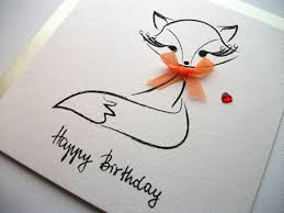 Designs Of Greeting Cards Handmade Happy Birthday Seller Sabivo Design Figgie Foxy Happy Birthday
