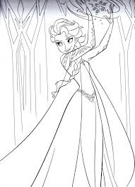 frozen coloring pages characters queen disney pdf book sheets that