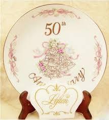 50th wedding anniversary plates china plate lefton 50th wedding anniversary japan mint