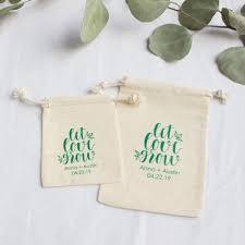 wedding favor bag personalized cotton wedding favor bag