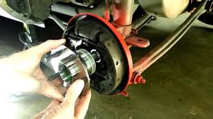 dodge rear wheel bearing replacement youtube
