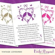wedding gift list poems wedding money request poems for your home on card https