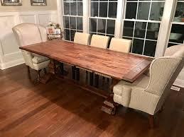 Plank Dining Room Table Rectangular Walnut Dining Table Villella Custom Woodworking