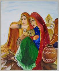 Mural Painting On Canvas by Prachee Agrawal One Stroke Certified Instructor February 2013