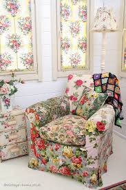english country cottage vintage colour patchwork armchair in