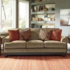 Prime Brothers Furniture by Two Tone Traditional Sofa With Wood Trim Accents Living Room