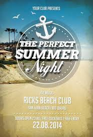 free perfect summer nights flyer template awesomeflyer com