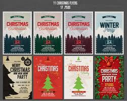 christmas and new year flyers template bundle