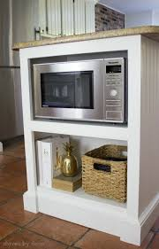 Accessories For Kitchen Cabinets Our Remodeled Kitchen Island With Built In Microwave Shelf