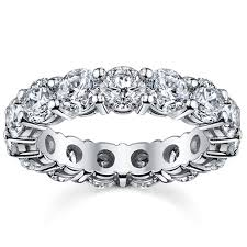 eternity wedding bands 14k white gold 5ct tdw diamond eternity wedding band free