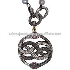 vintage necklace styles images Pave diamond vintage styles 925 sterling silver knot shaped snake jpg