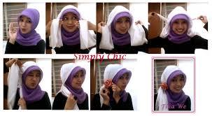 tutorial jilbab ala ivan gunawan 23 gambar lengkap tutorial hijab segi empat fatin paling lengkap