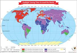 daylight saving time around the world our world