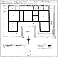 Roman Villa Floor Plans by Romano British Remains County Houses British History Online