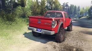 Ford Raptor Fire Truck - raptor svt v1 2 factory sunset red for spin tires