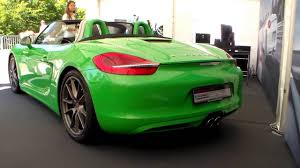 green porsche convertible green porsche boxster s hd youtube