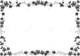 historical frame in gray with floral ornaments in din format