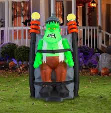 Inflatable Halloween Decorations 6 Ft Inflatable Animated Short Circuit Monster Airblown Halloween